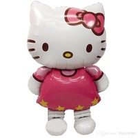 20pcs/lot Charistmas Party Prop Foil Balloon Children X'mas Gift Toy Airballoon Hello Kitty Shape wq025