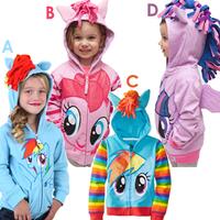 Children's direct group of girls pony Leah zipper Hoodie Terry coat  cartoon