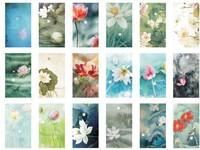 New vintage About  Beautiful lotus postcard 60pcs/set Christmas Card/Greeting Card/ Postcard Gift