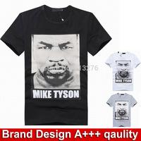 Brand design t-shirt men brand short sleeve round neck mens t shirts fashion 2014 mens clothing casual mens shirt Mike tyson