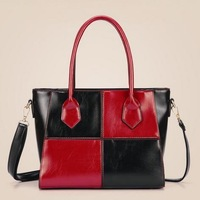Women Handbag Genuine Leather Bags for Women Shoulder Bags bolsas femininas women messenger bags Patchwork Handbag tote Y176