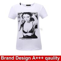 Brand Design women summer tops fashion clothing white  Marilyn Monroe summer tee shirt women t-shirt 2015 new brand clothes