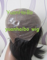 Best 6a grade quality 1b# brazilian virgin silky straight human hair full thin skin wig 100% remy hair free shipping