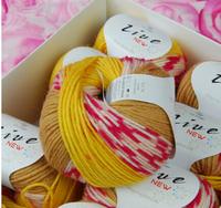 Fancy yarn dyeing section The baby wool thread Milk cotton towel line shoes knitting yarn thread to knit Australian wool line