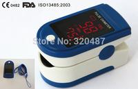 10pcs Brand NEW CE & FDA BLUE color Fingertip Pulse Oximeter Blood Oxygen SpO2 saturation oximetro monitor