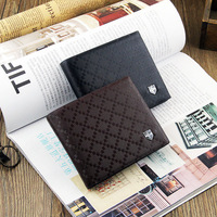 New arrive famous brand men's wallet leather with Flip up ID Window black brown wallet