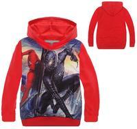 Retail New Style Spiderman Clothes 2015 Spring Autumn children hoody boys hoodies sweatshirts Kids cartoon spiderman hoody