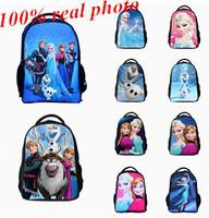 Hot fashion!New Anna elsa Tactical Frozen Backpacks Girls Boys students backpacks Cartoon 3D travel Zipper Notebook school Bag