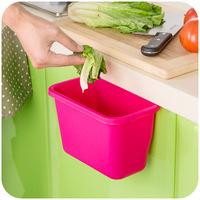 Free shipping desktop garbage bucket plastic storage box sundries box kitchen cabinet door hanging kitchen trash SN014