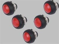 5pcs Red Mini Round Switch 12mm Waterproof Momentary Push Button Switch