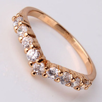 gold filled brand new shining luxury ring +22