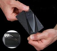 1 Pcs/Lot Pocket Camping Hunting Wallet Credit Card Fruit Knife Sharp Black Safety Folding Knifes Free Shipping