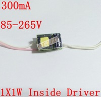 10pcs/lot 1X1W LED Constant Current Inside Driver for 1pcs 1W LED , Input 85-265V, Output 300mA Power Supply