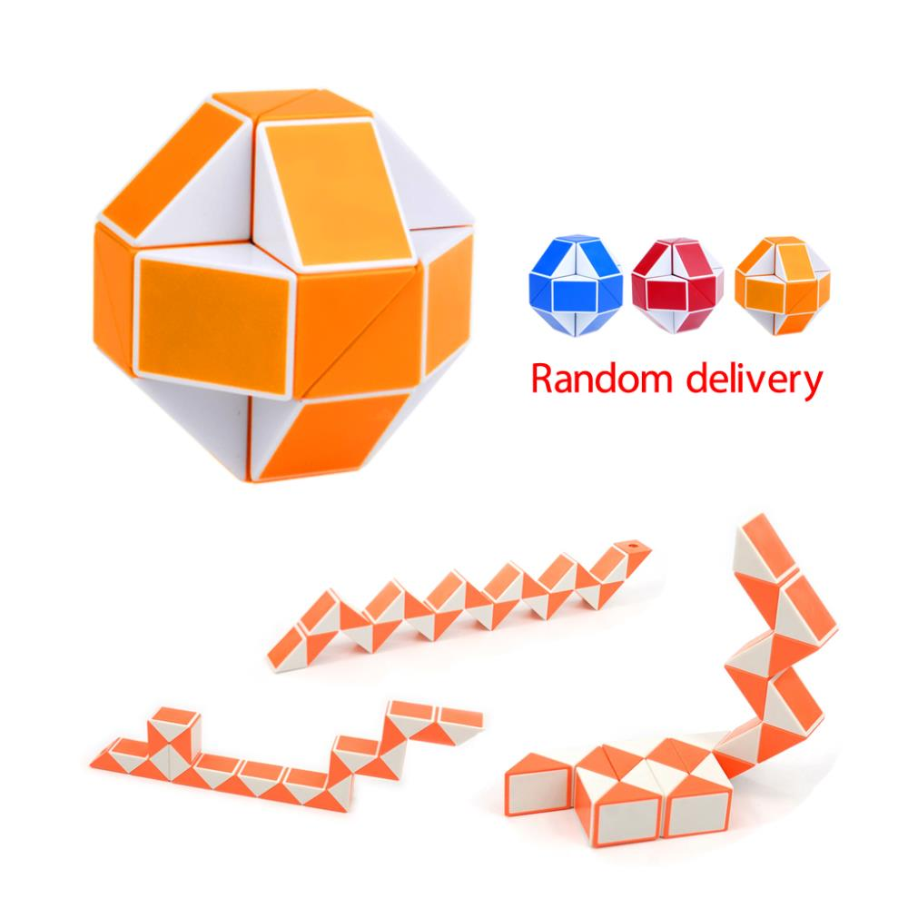 Hot Selling Magic Snake Shape Toy Game 24 Segment Cube Puzzle Twist Puzzle Toy Gift Small Size For Kids Child(China (Mainland))