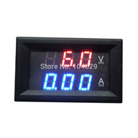 A3Hot Sale Red Blue LED DC 0-100V 10A Dual Display Voltage Meter Digital LED Voltmeter Ammeter Panel Amp Volt Gauge T1422 P