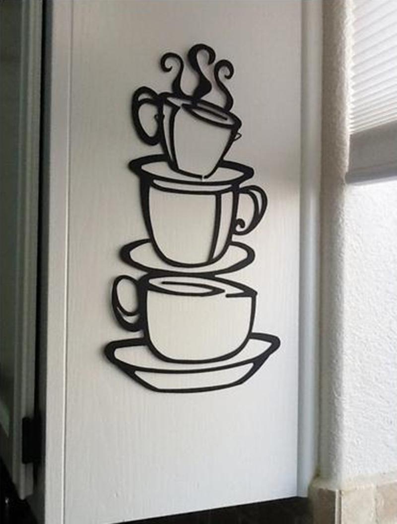 Hotsale DIY Kitchen Decor Coffee House Cup Decals Vinyl Wall Sticker ES(China (Mainland))