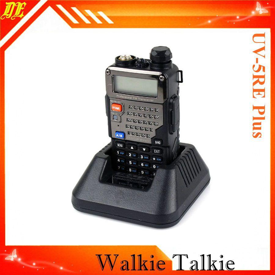 BAOFENG 5RE + 5W 128CH UHF VHF 136/174/400/520 FM VOX uv5RE UV-5RE Plus bao feng baofeng 5ra interphone uv5ra 128ch 136 174 uhf 400 470 fm bf uv 5ra