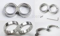 Luxury Male Female stainless steel 8-Form Restraint Slave Wrist Restraint Manacle with locks sex toys