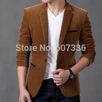 New Arrival Men's Spring Casual Blazers Stylish Slim Corduroy Blazer Men Fashion Suit Jacket