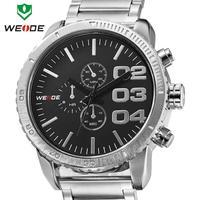 2014 New WEIDE Famous Luxury Brand Men Watches Quartz watch analog 30m Waterproof Stainless steel Wristwatch top sale