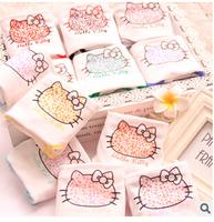 Many Colors Option Kawaii Printing Leopard Bowknot Hello Kitty Cotton Lady Women Underwear
