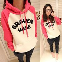 Womens Hoodie Alphabet Print Jacket Coat Sweatshirt Outerwear Tops Tracksuit New Free Shipping