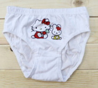 60pc/lot Girl Kitty Cotton Child Soft Briefs Underwear For Hello Kitty Comfortable KT9 For Baby2-10 Years Free shipping