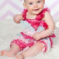 Baby girl Petti lace romper smash cake outfit, Easter lace romper,pink aqua romper