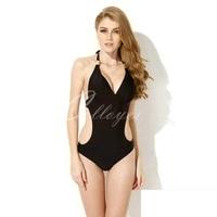New Arrival Black One Piece Backless Swimwear Sexy Bandage high cut one piece swimsuit  Women Bathing suits Beach Wear Monokini