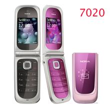 7020 Original Unlocked Nokia 7020 cell phone Bluetooth 2MP camera MP4 Player freeship refurbished