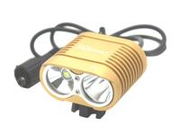 UniqueFire LT-HD-016 New Design 2xCREE XML T6 LED 3 Mode 5000Lm LED Bicycle Light-Gold