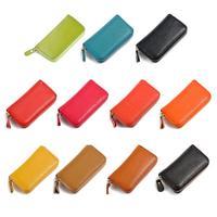 New Arrival high quality Fashion unisex Door Car Key genuine Leather Keychain Holder Bag Purse Case