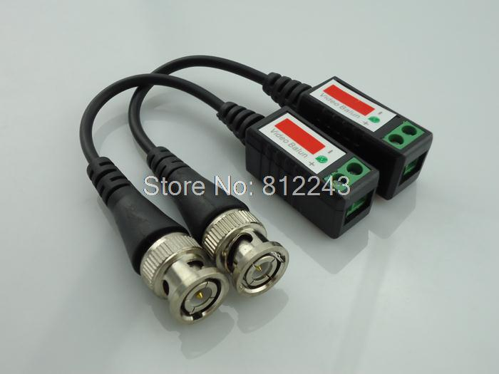 Twisted CCTV Video Balun Passive Transceivers 3000FT Distance UTP Balun BNC Cable Cat5 CCTV UTP Video Balun(China (Mainland))