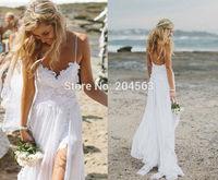 Free Shipping New Arrival vestidos de noiva Beach Wedding Dress Custom size/color