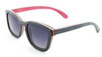 2014 Free shipping Rare Skateboard Wood UV400 Polarized Sunglasses  Hand Made Wood Sunglasses Outdoor Eyewear 68006