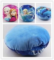 New Free Shipping 30cm*30cm Frozen Elsa Anna Stuffed Plush Toys Soft Pillow Girl Hand Warm Retail 1PCS