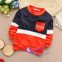 2015 Spring and Autumn Child Boys fashion patchwork T-shirts,Children T-shirt,4pcs/lot,V1563