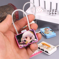 Cartoon Mini Digit Metal Zinc Alloy Lock Password Portable Resettable Combination Suitcase Padlock Luggage Protector CR-29B