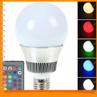 E27 10W SMD 5730 Epistar RGB LED Lamp Bulb 120 Degree 16 Colors Remote Control Changeable LED Bulb Light RGB + Remote Control