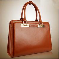 Fashion Shoulder Bag Briefcase Women's Shaping Genuine Leather Handbag Women's Bags 2015 Bag High Quality Simple Casual Bag B269
