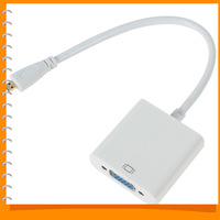 Type D Micro HDMI to VGA Converter Adapter Micro HDMI Male to VGA Female Cable Adapter with Chipset Dropship & Wholesale