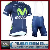 2015 new bike team Movistar clothing cycling jersey bib shorts men cycling sports wear short sleeve bicycle clothes tops jacket