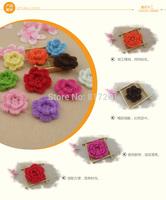 2015 new arrival Free shipping Fashion design  50 pics handmade girl headwear accessories crochet stereocotton multicolour doily
