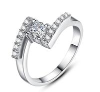 2014 New  personalize fiash parallel diamond Quality White  Fashion Diamond Wedding Rings For Women New Arrival 937