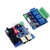 Version I;4CH DMX512 relay decoder;DC12V input