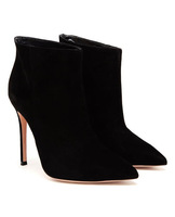 Hot 2014 JC/GIANVITO ROSSI Stilo Black suede ankle boots women sexy pointed winter boots/booties