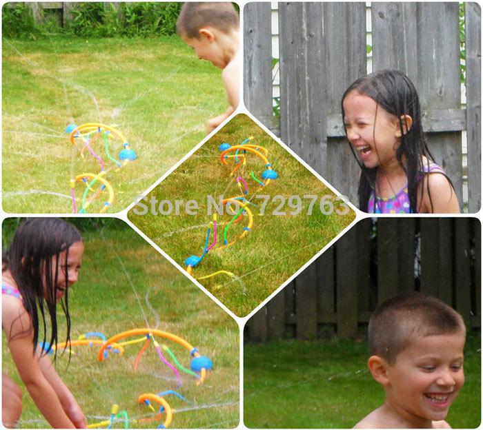 Wigglin Water Sprinkler Summer Outdoor Fun Kids Toys For Multiplayer Children Fountains Water Spray Toy L 3.66m()