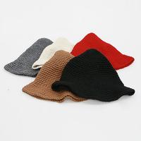 Fanshou Free Shipping 2015 Women Hat Autumn Winter Bucket Hat Fashion Caps Knitted Winter Hat For Women Warm Casual Wizard Hat