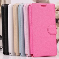 Hot Selling Luxury Silk Pattern Wallet PU Leather Cover Case For Coolpad 8702 Cell Phone Shell With Stand