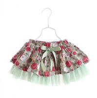2015 New spring,girls floral tutu skirts,children chiffon skirts,bow,dot,2 colors,5 pcs/lot,wholesale,2068